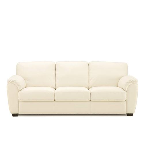 Lanza Leather Sofa White