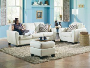 Marymount Leather Sofa Room Day