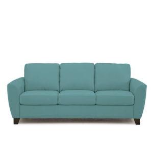 Marymount Leather Sofa Blue