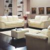 Sirus Leather Sofa White Room