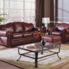 Troon Leather Sofa Room