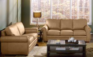 Viceroy Leather Sofa Beige Room