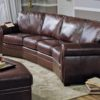 Viceroy Leather Sofa Brown Room