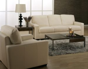 Westend Leather Sofa White Room
