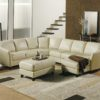 Alula Leather Sectional White Room