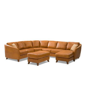Alula Leather Sectional Tan