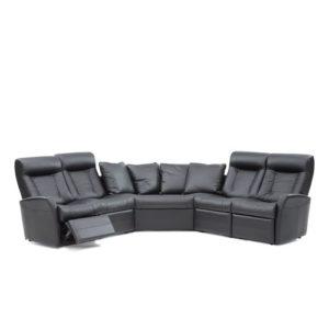 Banff II Leather Sectional