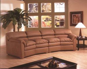 Canyon Leather Sofa Light Room