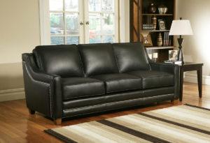 Fifth Avenue Leather Sofa Room