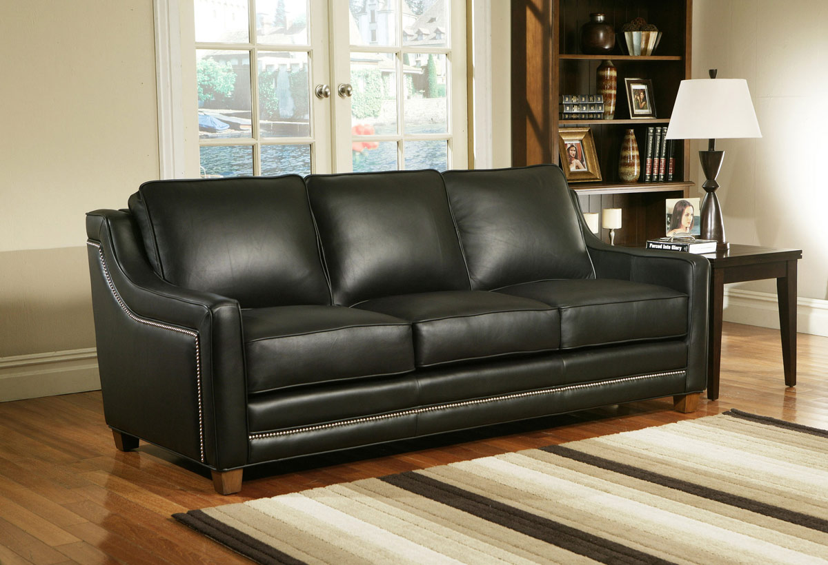 Fifth avenue leather sectional leather express furniture for Sofa express leather sectional