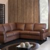 Meadowridge Leather Sectional Brown Room
