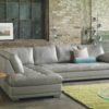 Miami Leather Sectional Gray Room
