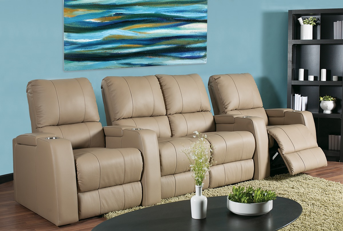 Playback Home Theater Seating 183 Leather Express Furniture