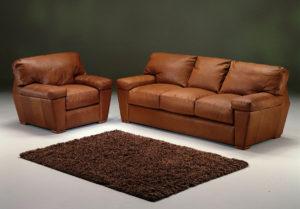 Prescott Leather Sofa Room