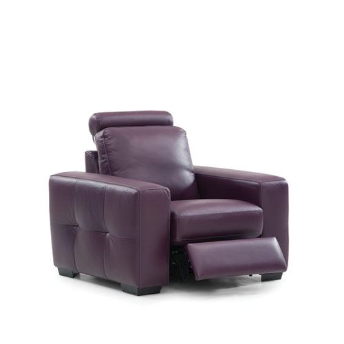 Push Leather Recliner