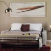 Roommate Leather Sleeper Room Open