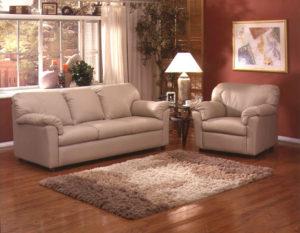 Tahoe Leather Sofa Tan Room