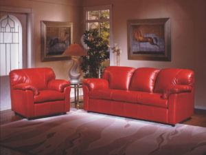 Tahoe Leather Sofa Red Room