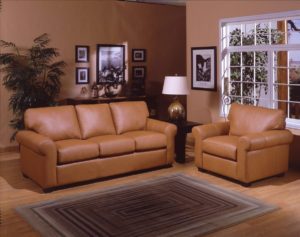 West Point Leather Sofa Room