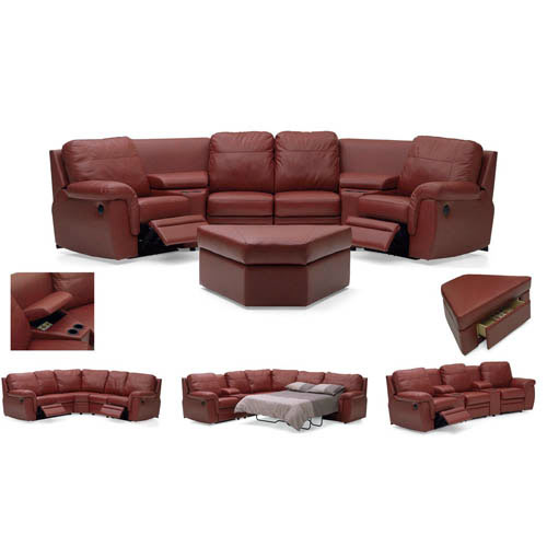 Brunswick Leather Reclining Furniture Home Theater