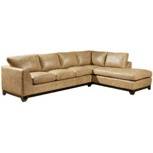 City Sleek Leather sectional by Omnia