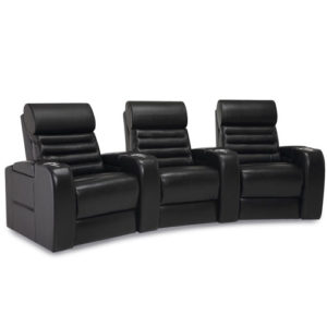 Catalina Leather Home Theater Seating by Palliser - shown in black here -- many colrs and options available --