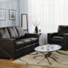 Carlten Leather Sofa Brown Room