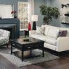 India Leather Sofa White and Blue Room