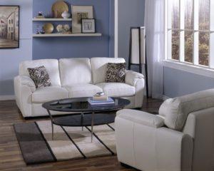Lanza Leather Sofa White Room