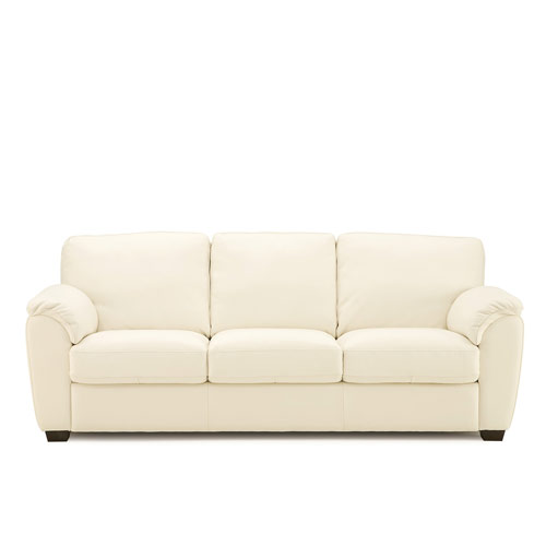 Lanza Leather Sofa White