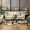 Marymount Leather Sofa Room Night