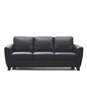 Marymount Leather Sofa Black