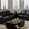 Reed Leather Sofa Black Room