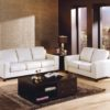 Reed Leather Sofa White