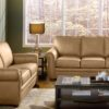 Viceroy Leather Sofa Beige Room