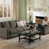 Westend Leather Sofa Gray Room