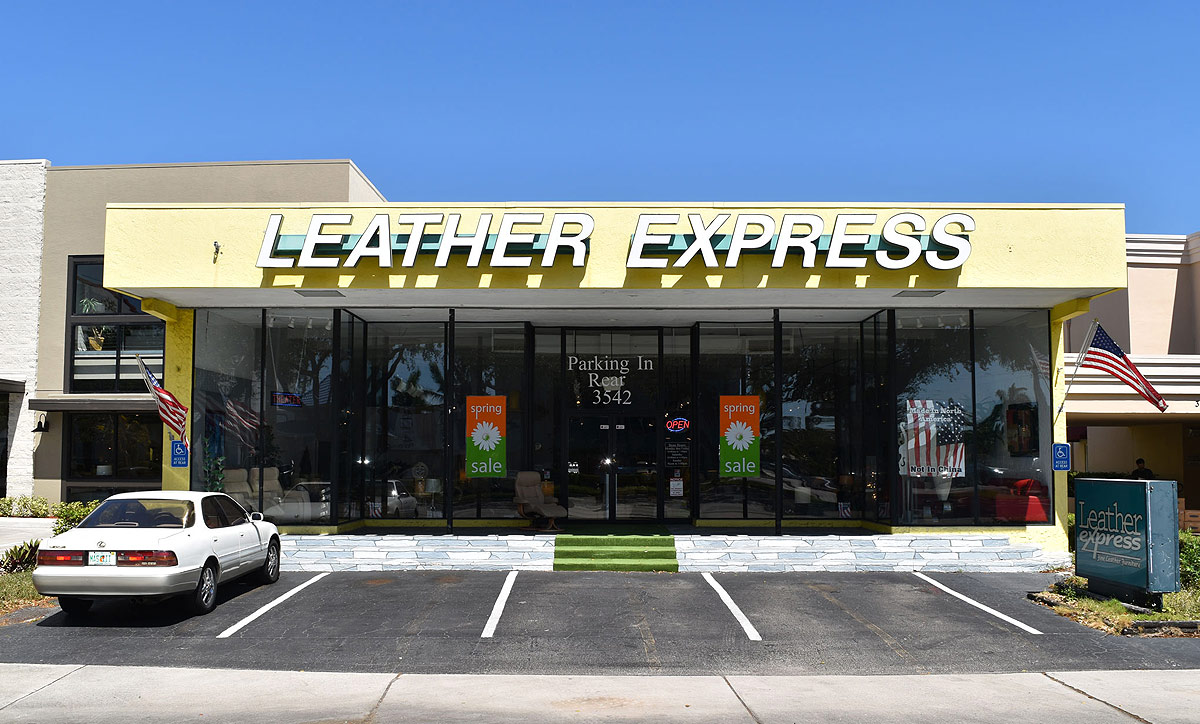 Leather Express Fort Lauderdale Store Front