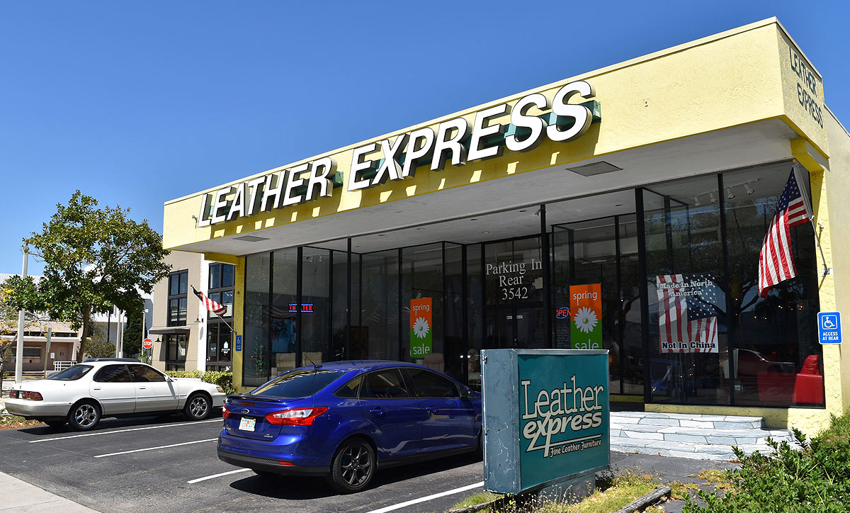 Leather Express Fort Lauderdale Sign