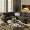 Alula Leather Sectional Brown Room