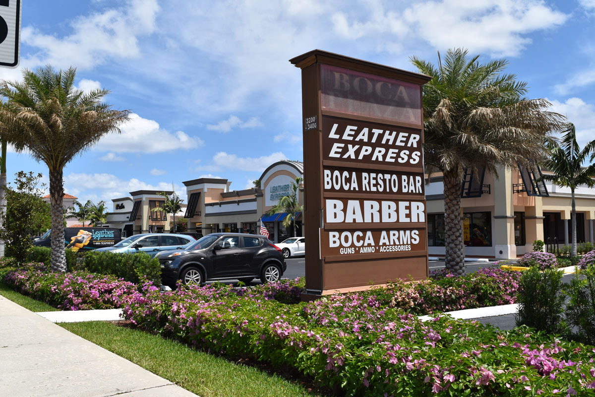 Boca Leather Express Sign