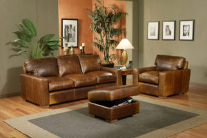 City Craft Leather Sofa Room