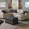 Corissa Leather Sectional White Room