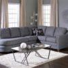 Corissa Leather Sectional Blue