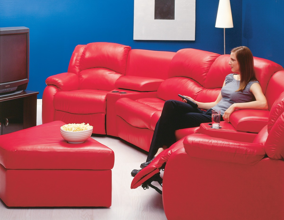 Dane Home Theater Seating Leather Express Furniture