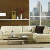 Miami Leather Sectional Room