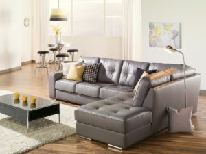 Pachuca Leather Sectional Gray Room