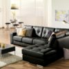 Pachuca Leather Sectional Black Room