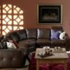 Push Leather Sectional Room