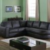 Push Leather Sectional Green Room