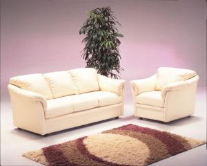 Salerno Leather Sofa Room